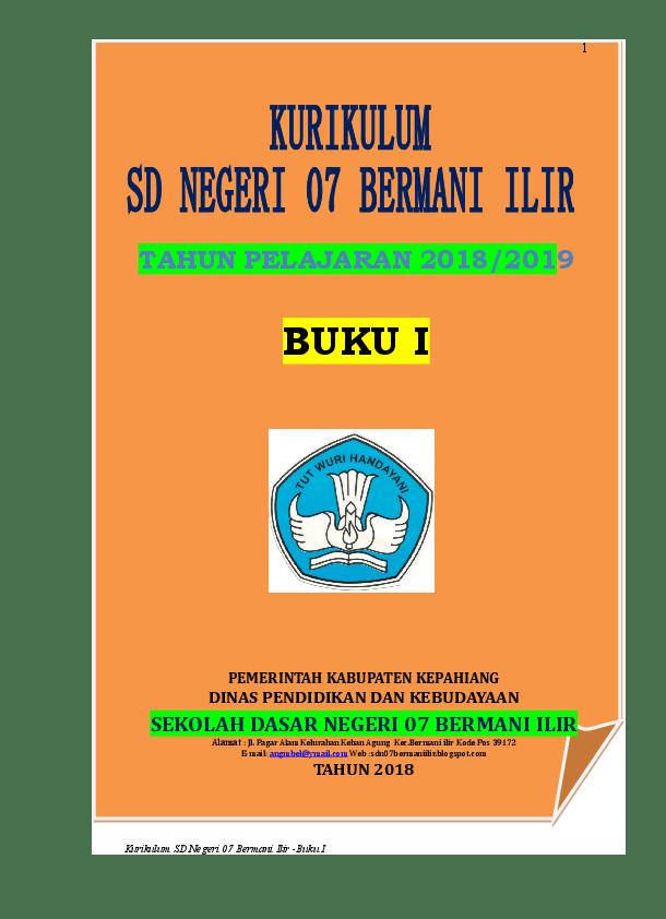 Dokumen 1 Kurikulum 2013 Sd : dokumen, kurikulum, KURIKULUM, BI-2018-2019.doc, Romianda, Academia.edu