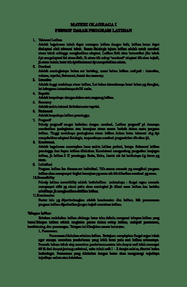 Prinsip Latihan Kebugaran Jasmani : prinsip, latihan, kebugaran, jasmani, Materi, Olahraga, Prinsip, Dasar, Program, Latihan, Mufida, Academia.edu