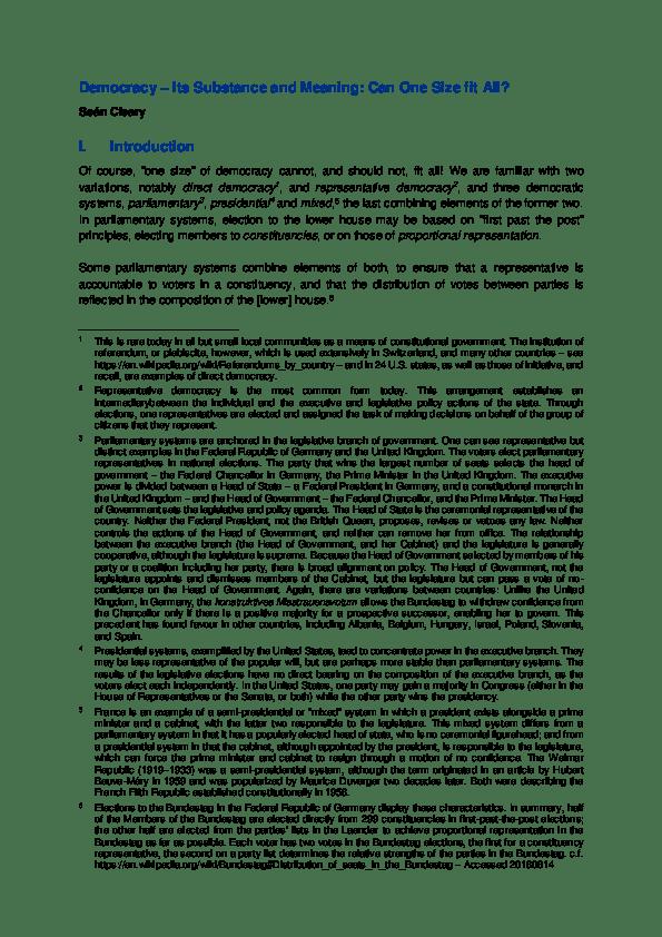 pdf democracy its substance