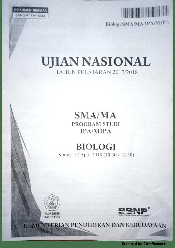 Soal Un Biologi Sma 2016 Dan Pembahasannya Pdf : biologi, pembahasannya, Biologi, Tahun, Pembahasannya, Tentang