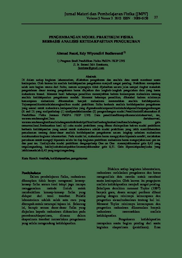 Ketidakpastian Pengukuran Dalam Fisika : ketidakpastian, pengukuran, dalam, fisika, Jurnall, Nonni, Yuvikha, Academia.edu