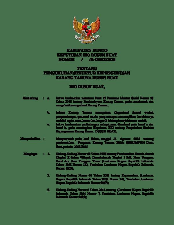 Contoh Surat Sk Karang Taruna - Resep Kuini