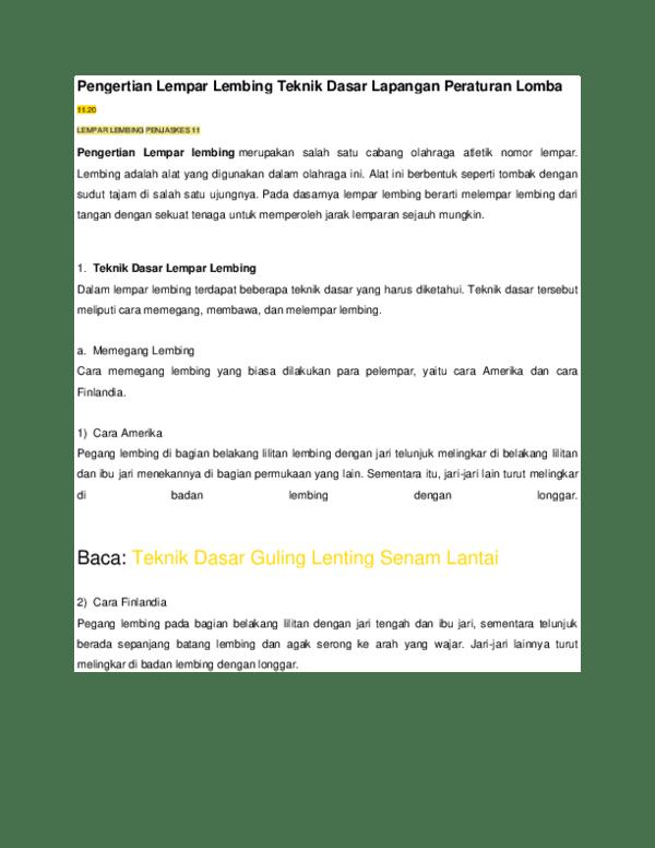 Aturan Lempar Lembing : aturan, lempar, lembing, Pengertian, Lempar, Lembing, Teknik, Dasar, Lapangan, Peraturan, Lomba, Fitriawati, Academia.edu