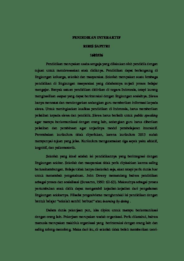 Contoh Essay Tentang Pendidikan : contoh, essay, tentang, pendidikan, FILSAFAT, PENDIDIKAN, Riris, Sapitri, Academia.edu