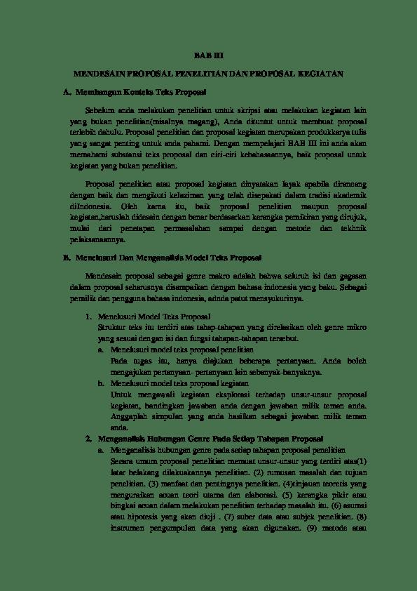 Ciri Ciri Proposal Yang Baik : proposal, Rangkuman, Syuaibah, Academia.edu