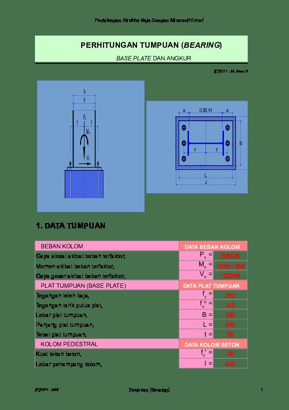 Perhitungan Kolom Baja Dengan Excel : perhitungan, kolom, dengan, excel, Perhitungan, Struktur, Dengan, Microsoft, Excel, TUMPUAN, BEBAN, KOLOM, Purba, Academia.edu