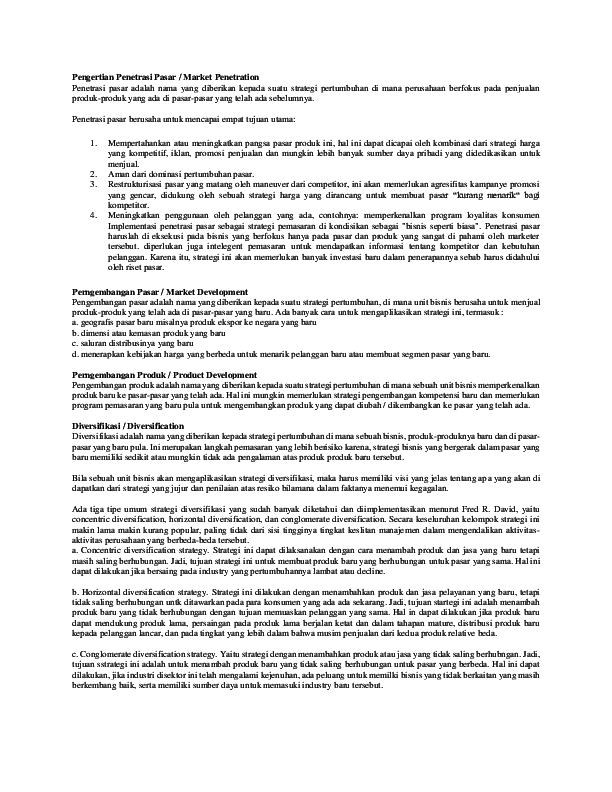 Pengertian Penetrasi Pasar : pengertian, penetrasi, pasar, Pengertian, Penetrasi, Pasar, Tantony, Academia.edu