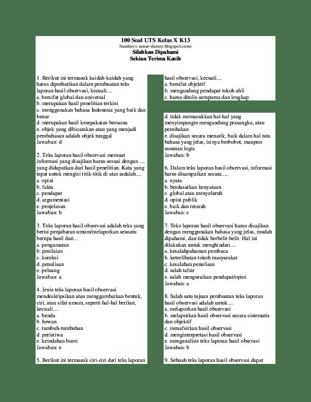 Salah Satu Tujuan Pembuatan Teks Laporan Hasil Observasi Adalah Untuk : salah, tujuan, pembuatan, laporan, hasil, observasi, adalah, untuk, Bahasa, Indonesia, Kelas, Academia.edu