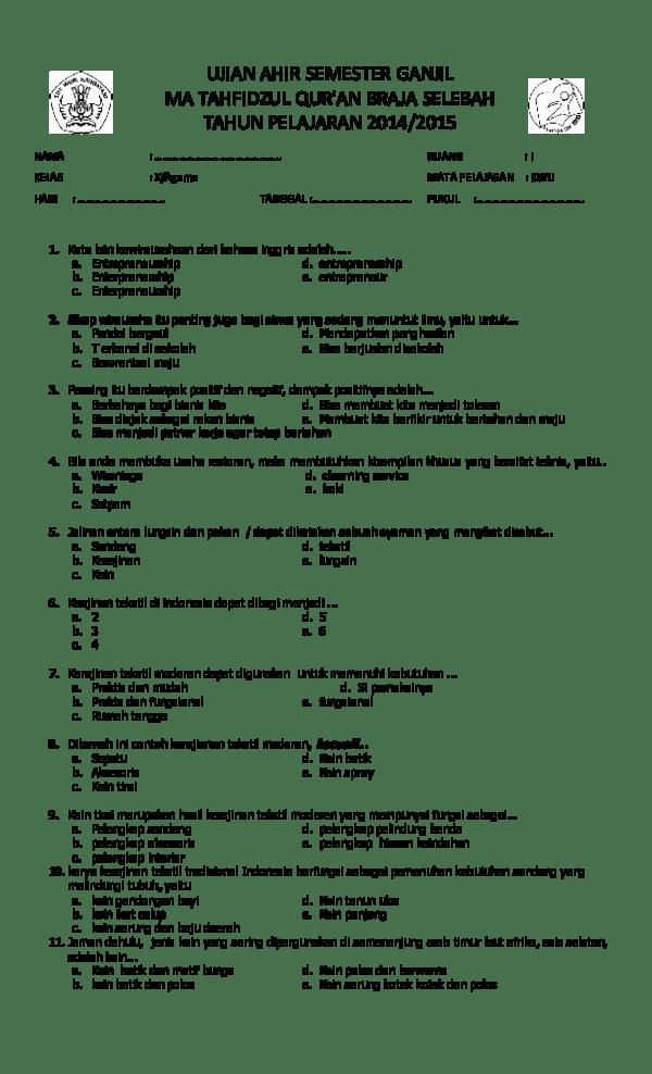 Kain Yang Dibuat Dengan Teknik Ikat Dan Berasal Dari Palembang Disebut Kain : dibuat, dengan, teknik, berasal, palembang, disebut, SEMESTER, KELAS, KUNCI, Riski, Bandeng, Academia.edu