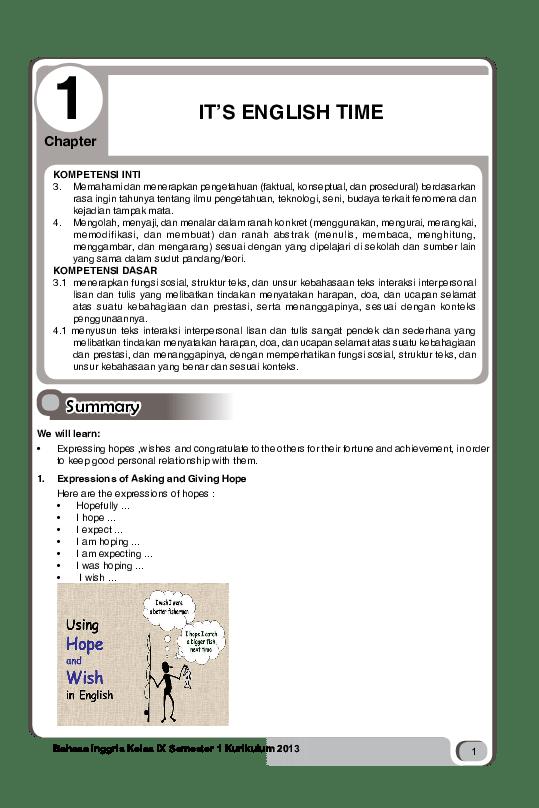 Materi Hope And Wish Kelas 9 : materi, kelas, INGGRIS, 9.pdf, Academia.edu