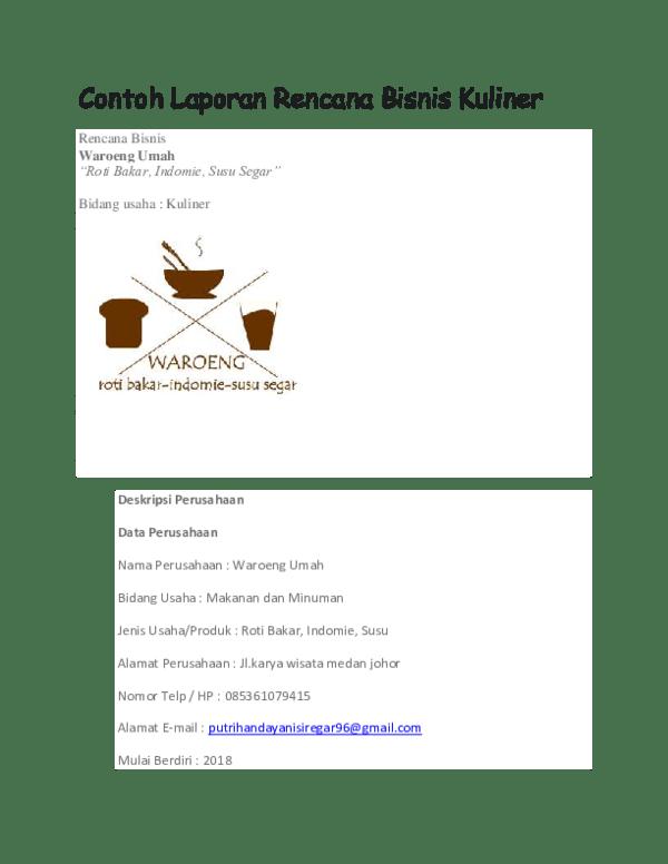 Contoh Laporan Bisnis Kuliner : contoh, laporan, bisnis, kuliner, Contoh, Laporan, Keuangan, Bisnis, Kuliner, Nusagates