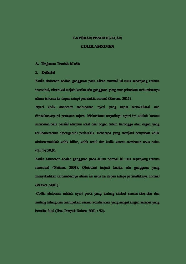 Patofisiologi Kolik Abdomen : patofisiologi, kolik, abdomen, Colik, Abdomen, Benar.docx, Paranse, Elsando, Academia.edu