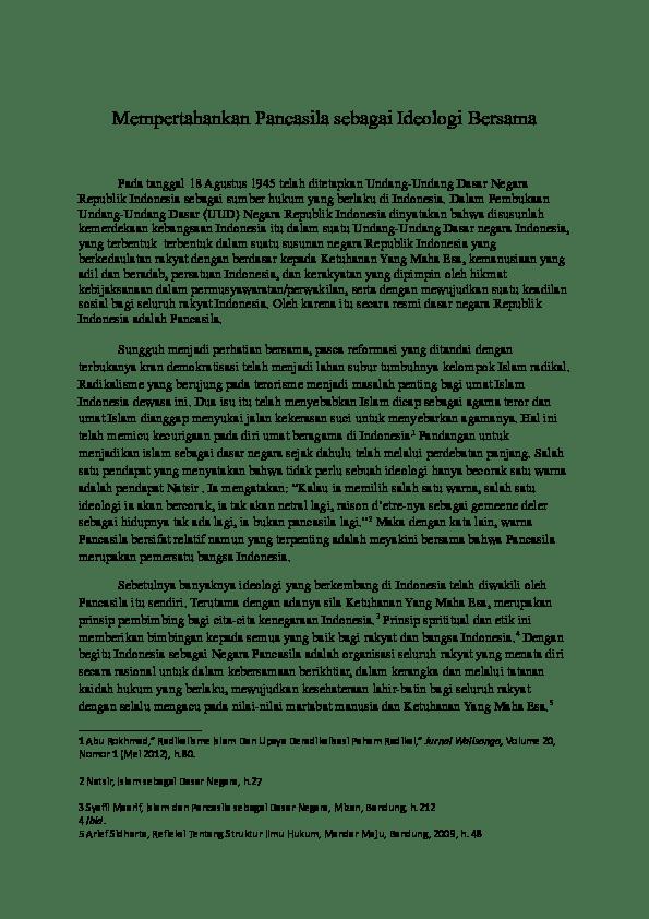 Upaya Mempertahankan Pancasila : upaya, mempertahankan, pancasila, Mempertahankan, Pancasila, Sebagai, Ideologi, Bersama, Himas, Academia.edu