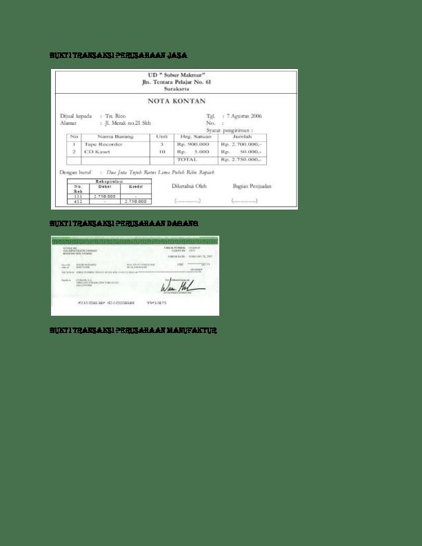 Bukti Transaksi Perusahaan Jasa : bukti, transaksi, perusahaan, BUKTI, TRANSAKSI, PERUSAHAAN, Haqki, Shabri, Academia.edu