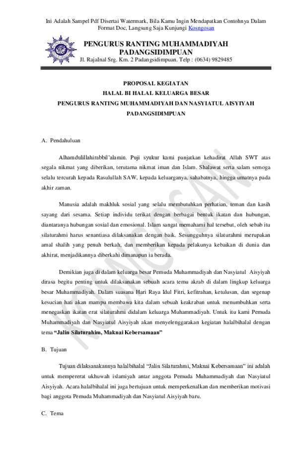 Contoh Proposal Halal Bihalal : contoh, proposal, halal, bihalal, Contoh, Proposal, Halal, Bihalal, Aneka, Macam