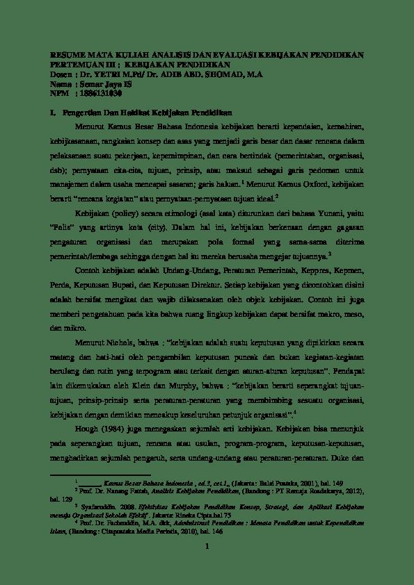 Contoh Kebijakan Sekolah : contoh, kebijakan, sekolah, Kebijakan, Pendidikan;, Pengertian, Hakikat, Pendidikan,, Latar, Belakang, Perlunya, Pendidikan..docx, Abank, Academia.edu