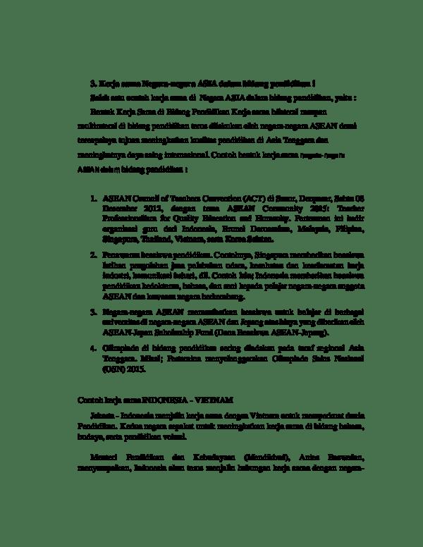 Bentuk Kerjasama Asean Dalam Bidang Pendidikan : bentuk, kerjasama, asean, dalam, bidang, pendidikan, Contoh, Kerjasama, Negara, Asean, Dalam, Bidang, Pendidikan, Berbagai