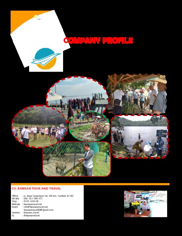 Company Profile Tour And Travel : company, profile, travel, COMPANY, PROFILE, BAWEAN, TRAVEL, Ahmadi, Academia.edu