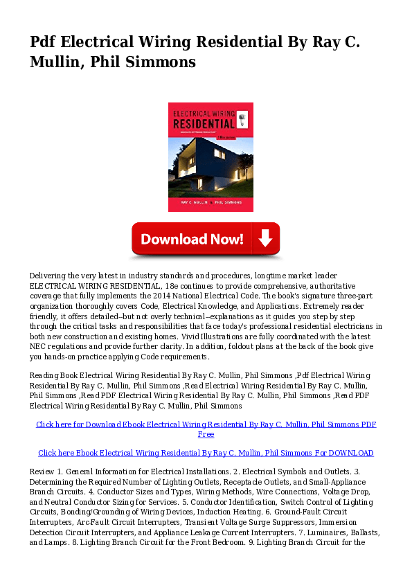 Electrical Wiring In Residential Building Pdf