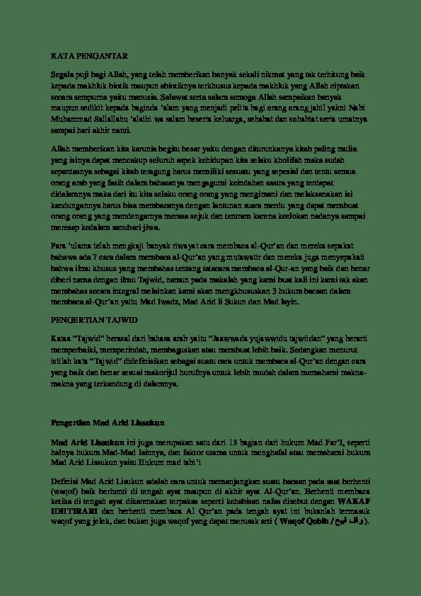 Pengertian Mad Arid Lissukun : pengertian, lissukun, Contoh, Bacaan, Lissukun, Berbagai