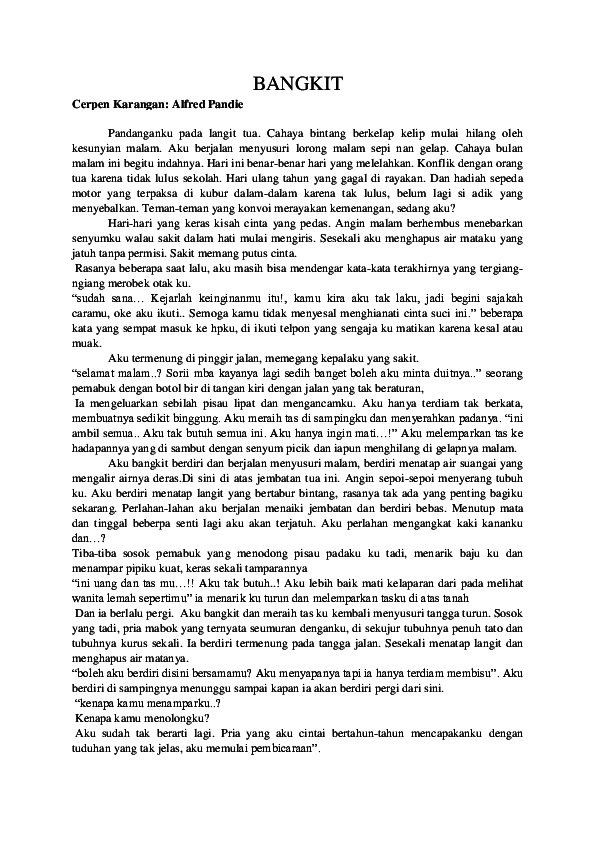 Cerpen Beserta Unsur Intrinsik : cerpen, beserta, unsur, intrinsik, Contoh, Cerpen, Beserta, Unsur, Intrinsik, Sunar, Academia.edu