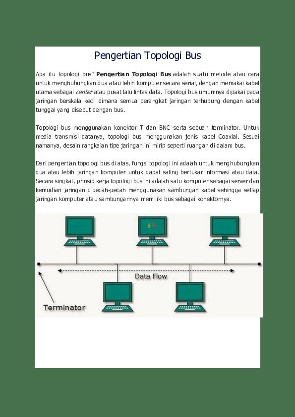 Topologi Bus Jaringan Komputer | Mengenal Teknologi Sistem