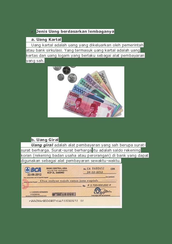Berikut Ini Yang Termasuk Uang Kartal Adalah : berikut, termasuk, kartal, adalah, Jenis, EKONOMI, Haryanto, Academia.edu
