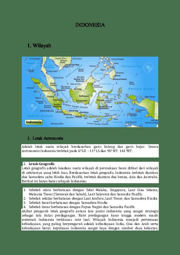 Indonesia Terletak Diantara Dua Benua Yaitu : indonesia, terletak, diantara, benua, yaitu, INDONESIA, Wilayah, Azizah, Academia.edu