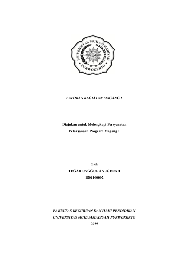 Contoh Laporan Magang 1 Pgsd : contoh, laporan, magang, Laporan, Magang, Research, Papers, Academia.edu