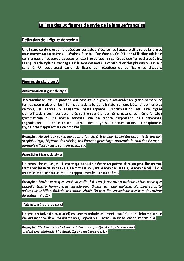 énumération Définition Figure De Style : énumération, définition, figure, style, Liste, Figures, Style, Langue, Française, Définition, Figure, Henry, Leheup, Academia.edu