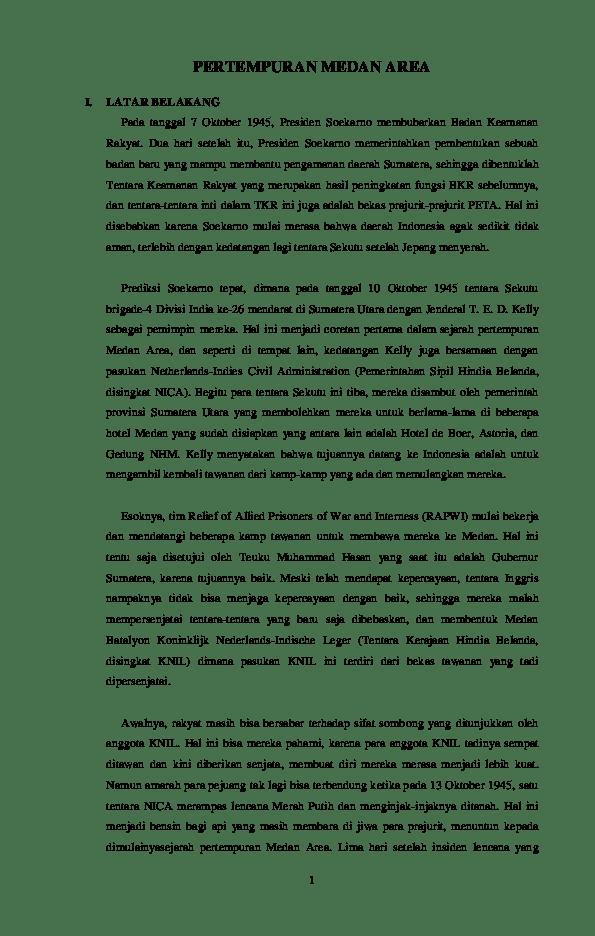 Latar Belakang Pertempuran Medan Area : latar, belakang, pertempuran, medan, PERTEMPURAN, MEDAN, Shabrina, Fajriyanti, Academia.edu