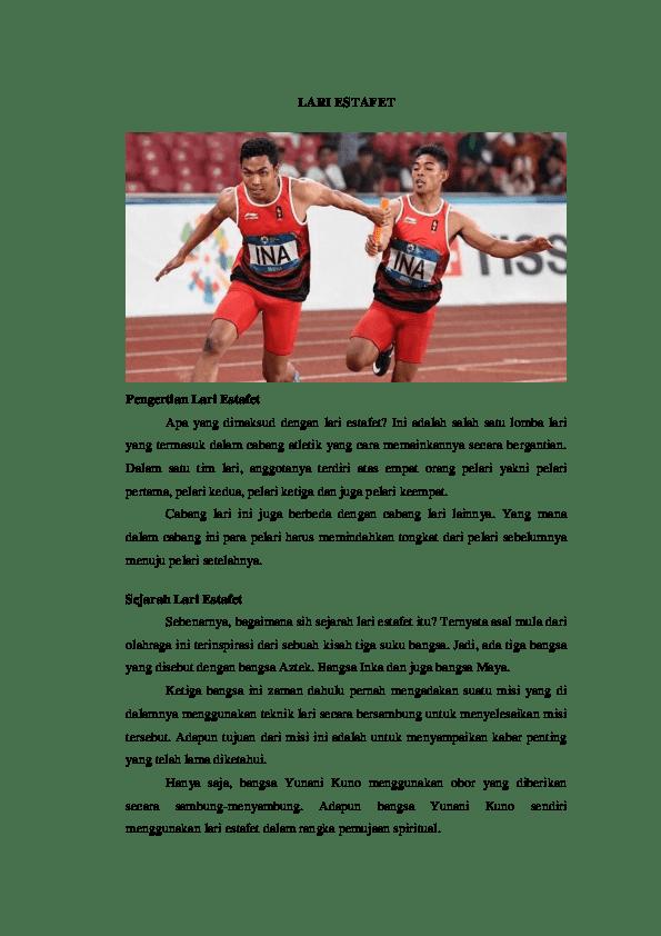 Start Yang Digunakan Oleh Pelari Ke 2 Dalam Lomba Lari Estafet Adalah : start, digunakan, pelari, dalam, lomba, estafet, adalah, ESTAFET, Satria, Academia.edu
