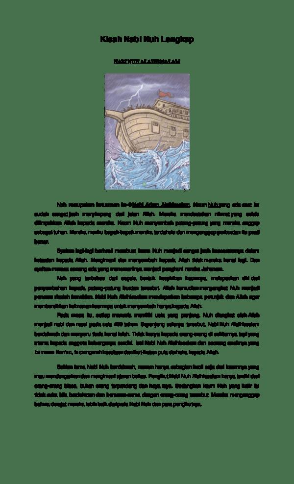 Kisah Nabi Nuh Lengkap : kisah, lengkap, Kisah, Lengkap, Sumbawa, Academia.edu