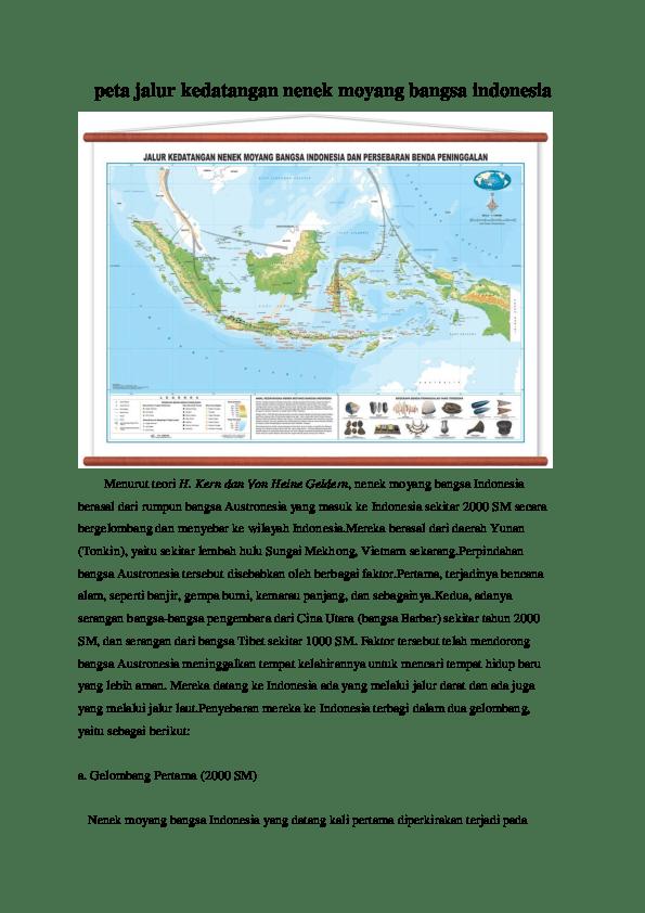 Peta Persebaran Nenek Moyang Bangsa Indonesia : persebaran, nenek, moyang, bangsa, indonesia, Jalur, Kedatangan, Nenek, Moyang, Bangsa, Indonesia, Academia.edu