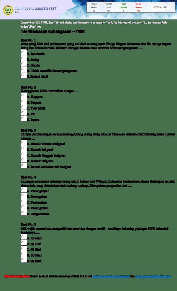 Soal Cpns 2018 Dan Kunci Jawaban Pdf : kunci, jawaban, Kunci, Jawaban, Research, Papers, Academia.edu