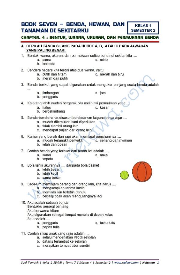 Soal Tema 1 Kelas 1 : kelas, Kumpulan, Ulangan, Harian, Kelas, Research, Papers, Academia.edu