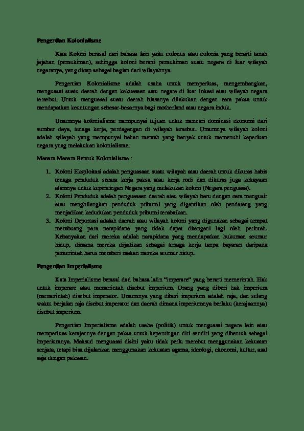 Respon Bangsa Indonesia Terhadap Imperialisme Dan Kolonialisme : respon, bangsa, indonesia, terhadap, imperialisme, kolonialisme, Imperialisme, Research, Papers, Academia.edu