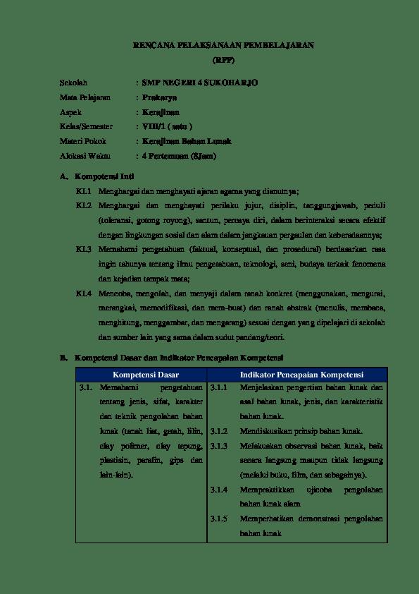 Sebutkan Tahapan Pembuatan Suatu Proyek Kerajinan Bahan Lunak : sebutkan, tahapan, pembuatan, suatu, proyek, kerajinan, bahan, lunak, RENCANA, PELAKSANAAN, PEMBELAJARAN, (RPP), Sekolah, NEGERI, SUKOHARJO, RAHMA, RAMADHANI, Academia.edu