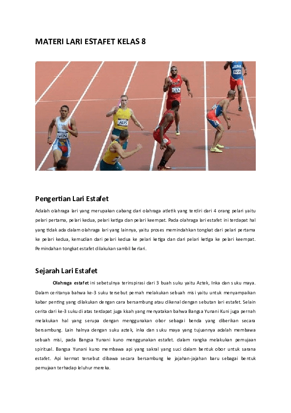 Cara Pemindahan Tongkat Estafet : pemindahan, tongkat, estafet, MATERI, ESTAFET, Middleton, Academia.edu