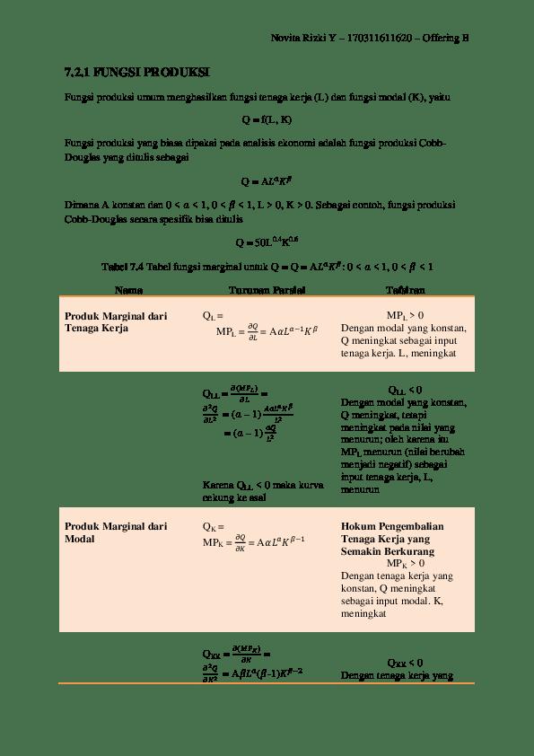 Fungsi Produksi Cobb Douglas Pdf : fungsi, produksi, douglas, Matematika, Ekonomi, Keuangan, Fungsi, Produksi, (Novita, Rizki, Yustiani), Novita, Yustiani, Academia.edu