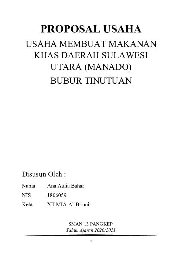 Proposal Makanan Khas Daerah : proposal, makanan, daerah, PROPOSAL, USAHA, MAKANAN, DAERAH, Anaaulia, Bahar, Academia.edu