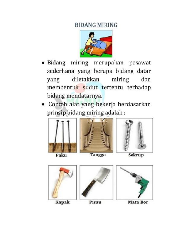 Contoh Bidang Miring : contoh, bidang, miring, Bidang, Miring, Materi, Kelas, Nurmainis, Academia.edu