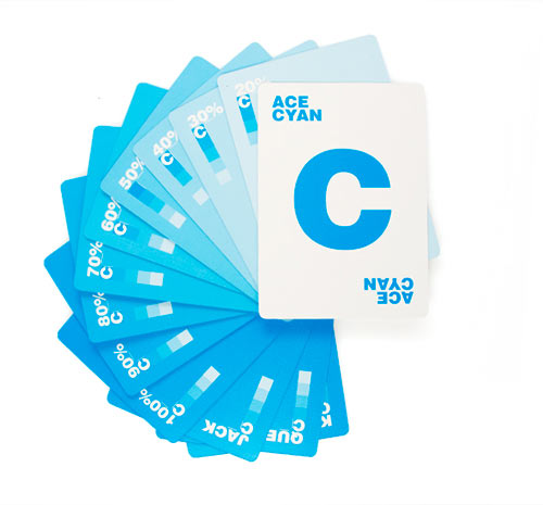 CMYK Playing Cards in style fashion Category