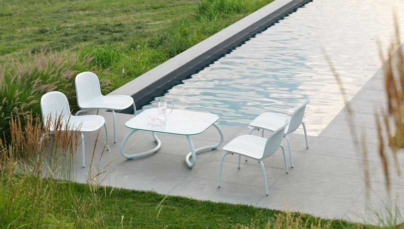 A Sophisticated, White Outdoor Collection from Nardi