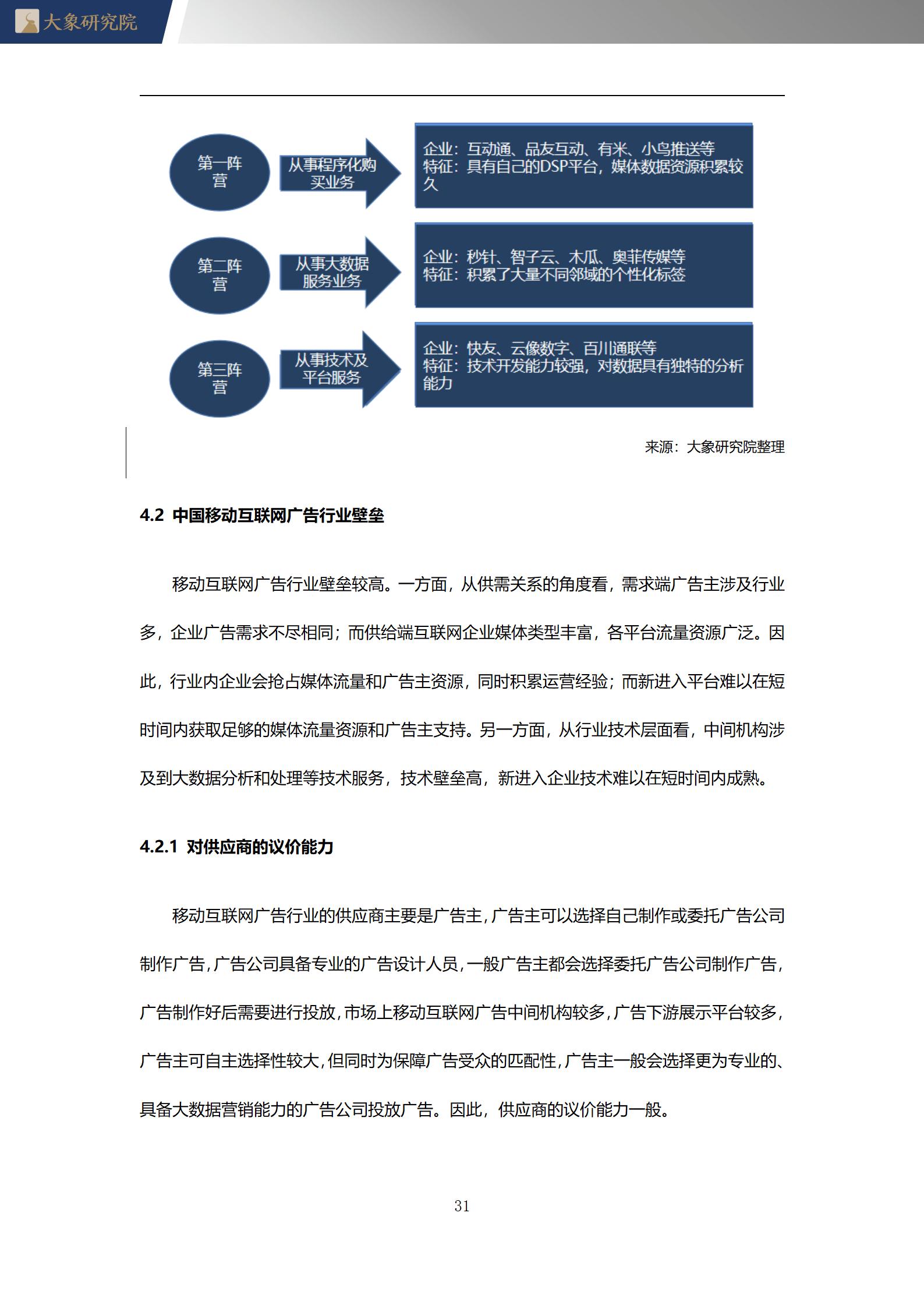 【大象研究院】2020年中國移動互聯網廣告行業概覽 - 行研報告 - 深圳大象投資顧問有限公司