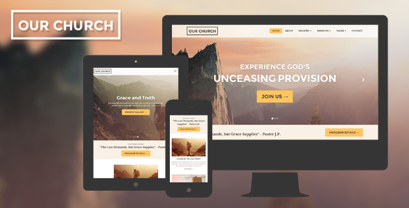 Church Website Template Responsive Our Church By