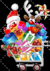 shopping cart reindeer santa christmas cartoon google