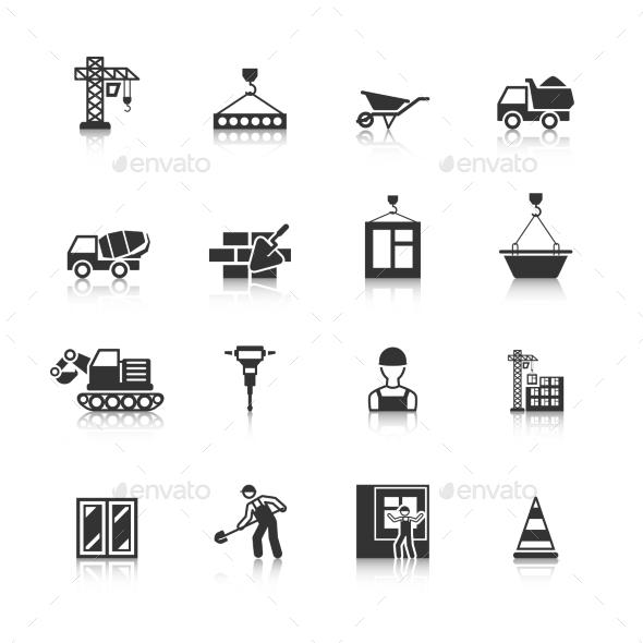 Construction Black Icons Set (Business) Download ~ Best