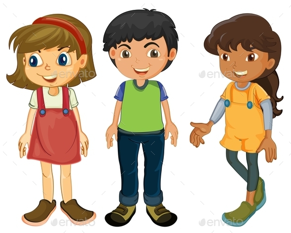 Three Kids People Download Best GFX Download