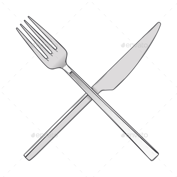 Knife And Fork Silhouette Dondrupcom